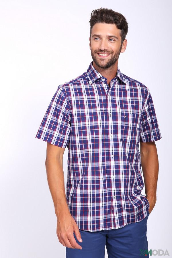 Фото - Мужские рубашки с коротким рукавом Just Valeri синего цвета