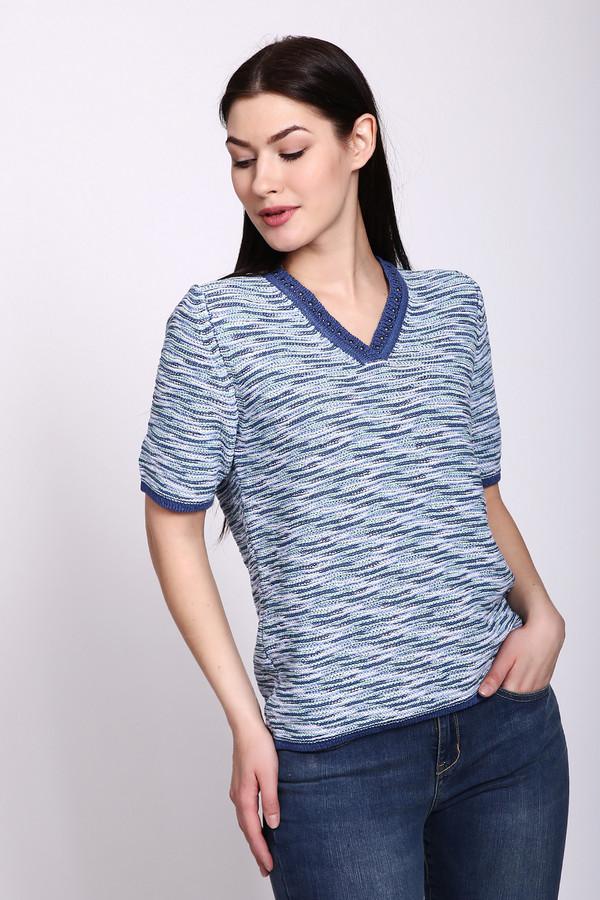 женский пуловер rabe collection, голубой