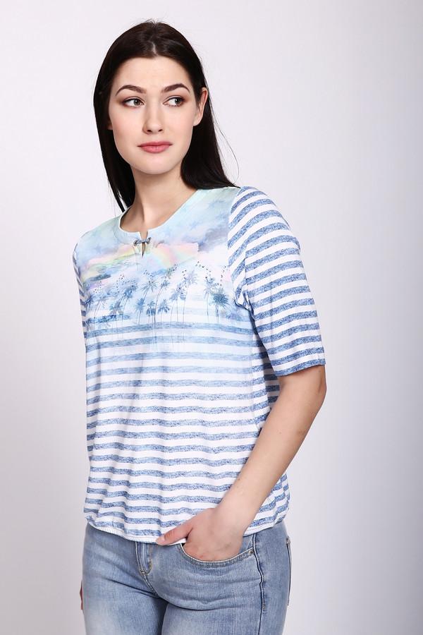 женская футболка rabe collection, голубая