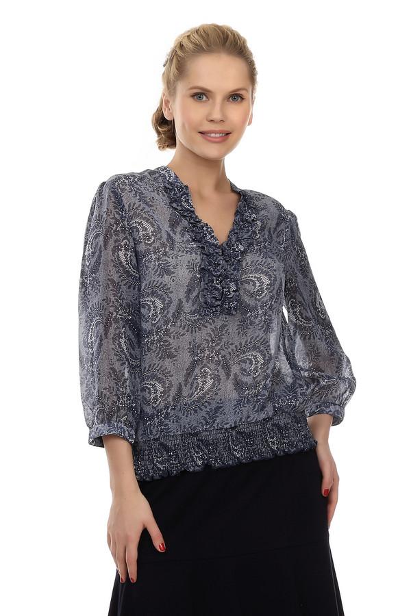 Блузa PezzoБлузы<br>Воздушная, изящная блуза от бренда Pezzo серого цвета предназначена для ношения в летний сезон. В качестве узора – орнаментальные серебристые «перышки», что придает модели особую изюминку. Дополнительное изящество придает V- образный вырез. Изделие дополнено рукавами «bishop» и поясом – резинкой.<br><br>Размер RU: 42<br>Пол: Женский<br>Возраст: Взрослый<br>Материал: полиэстер 100%<br>Цвет: Синий