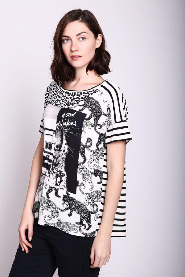женская футболка oui, разноцветная