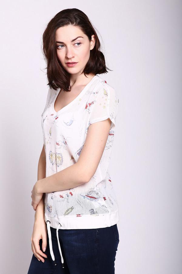 женская футболка just valeri, белая