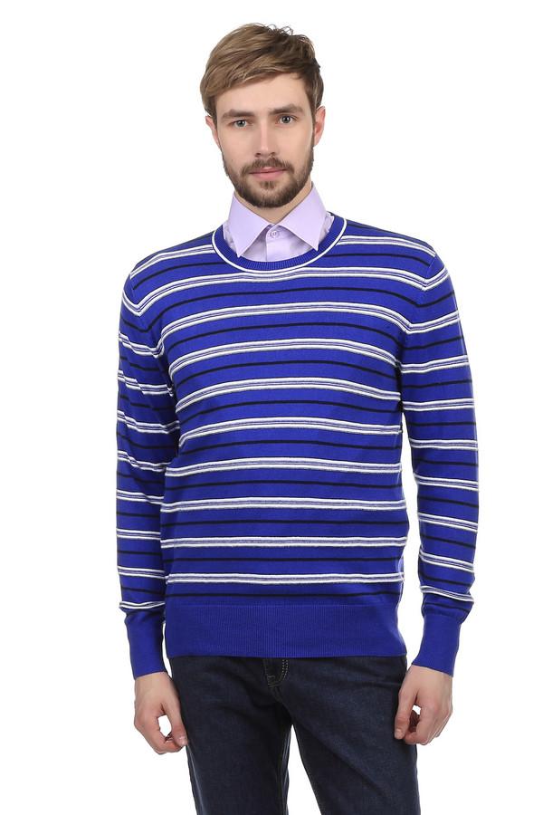 Джемпер PezzoДжемперы<br>Джемпер Pezzo украшенный рисунком в сине-белую полоску. Одежда пошита из натурального хлопка с незначительным добавлением полиамида. Ворот украшен окантовкой из сине-белых полос. Сдержанный стиль джемпера идеально подходит для работы в офисе или повседневной жизни.<br><br>Размер RU: 52<br>Пол: Мужской<br>Возраст: Взрослый<br>Материал: полиамид 20%, хлопок 80%<br>Цвет: Синий