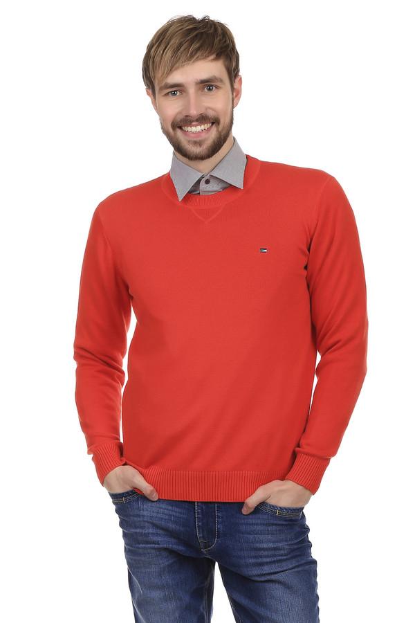Джемпер PezzoДжемперы<br>Джемпер Pezzo красного цвета, пошит из натурального хлопка. Подходит для использования в любое время года. Горловина украшена декоративной строчной, подчёркивающей ворот. На груди есть миниатюрная вышивка в виде логотипа бренда. Одежда изготовлена в очень сдержанном стиле, благодаря чему джемпер можно носить, как с брюками, так и с джинсами. Идеально подойдет для ежедневного использования.<br><br>Размер RU: 50<br>Пол: Мужской<br>Возраст: Взрослый<br>Материал: хлопок 100%<br>Цвет: Красный