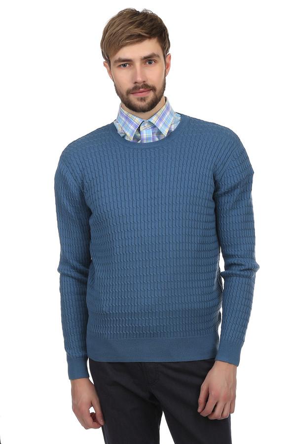 Джемпер PezzoДжемперы<br>Джемпер Pezzo синего цвета изготовлен из натурального хлопка с добавлением акрила. Украшен классически узором из продолговатых кос, мелкой вязки. Можно носить в тандеме с рубашкой или же без нее. Сдержанный стиль джемпера дает возможность носить его, как на работу, так и на встречи с друзьями или в университет. В дизайне одежды нет лишних украшений, все строго и утонченно.<br><br>Размер RU: 48<br>Пол: Мужской<br>Возраст: Взрослый<br>Материал: хлопок 60%, акрил 40%<br>Цвет: Синий
