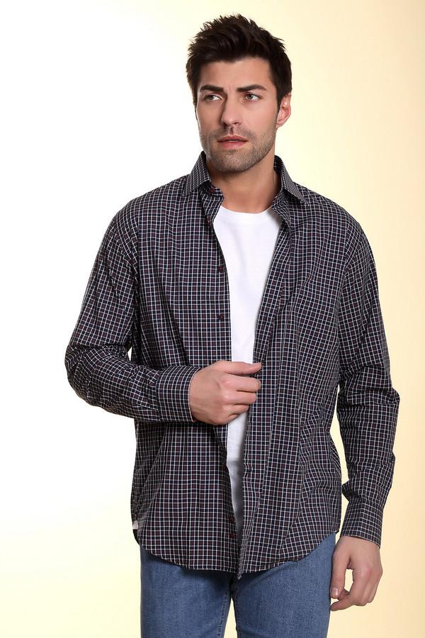 Рубашка Flavio NavaРубашки и сорочки<br>Клетчатая рубашка от бренда Flavio Nava прямого кроя выполнена из натурального хлопка. Изделие дополнено: отложным воротником, втачными рукавами, манжетами и планкой на пуговицах.