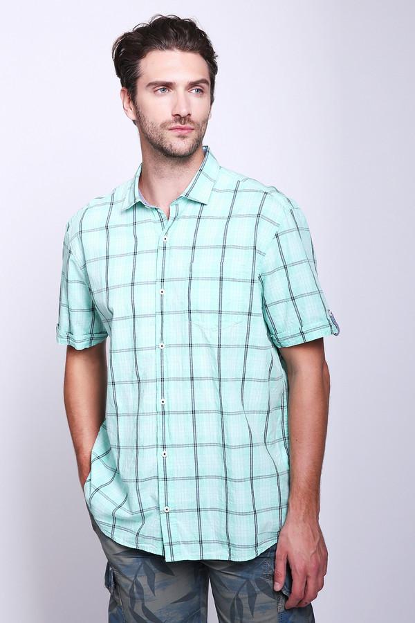 Купить Мужские рубашки с коротким рукавом s.Oliver, Индия, Зелёный, хлопок 100%