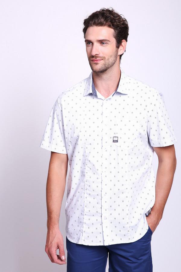 Купить Мужские рубашки с коротким рукавом s.Oliver, Бангладеш, Белый, хлопок 98%, эластан 2%