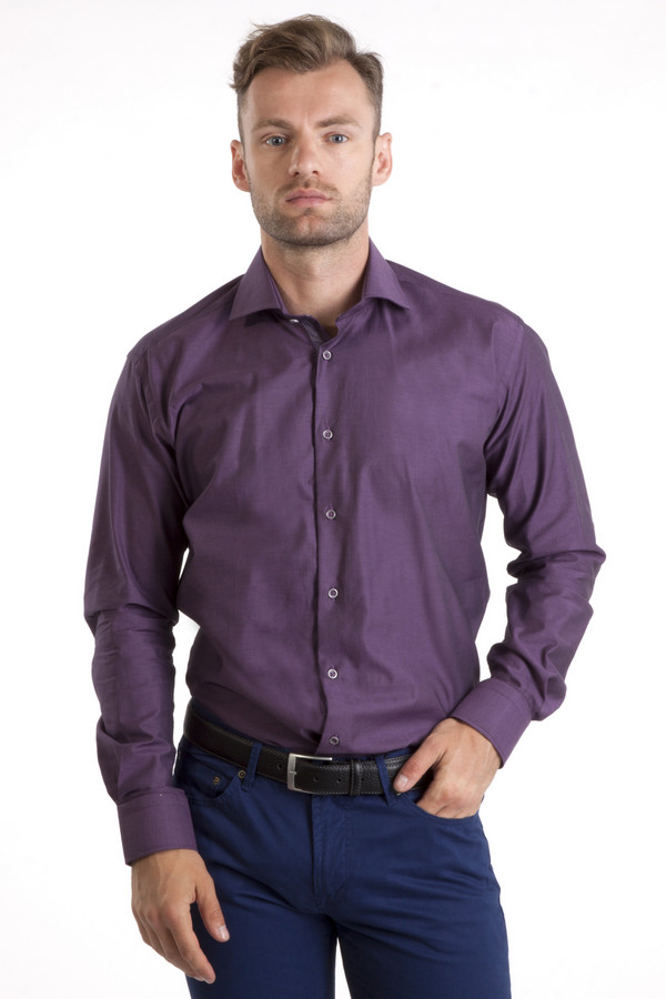 Рубашка Flavio NavaРубашки и сорочки<br>Фиолетовая классическая рубашка от бренда Flavio Nava приталенного кроя выполнена из хлопкового плотного материала. Изделие дополнено: отложным воротником, втачными рукавами, округлым низом, манжетами и планкой на пуговицах.<br><br>Размер RU: 46<br>Пол: Мужской<br>Возраст: Взрослый<br>Материал: хлопок 100%<br>Цвет: Фиолетовый