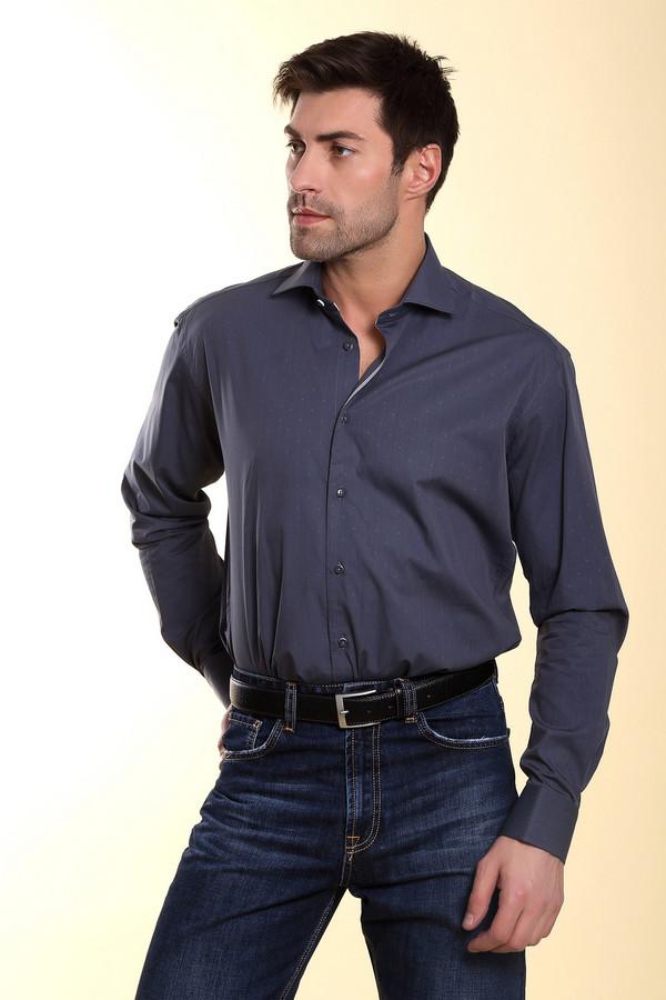 Рубашка Flavio NavaРубашки и сорочки<br>Мужская рубашка от бренда Flavio Nava прямого кроя выполнена из хлопка темно-серого цвета. Изделие дополнено: отложным воротником, втачными рукавами, округлым низом, манжетами и планкой на пуговицах. Рубашка декорирована принтом в горошек в цвет изделия.<br><br>Размер RU: 41<br>Пол: Мужской<br>Возраст: Взрослый<br>Материал: хлопок 100%<br>Цвет: Серый