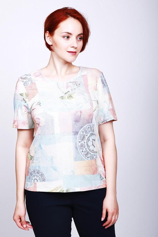 женская футболка lebek, разноцветная