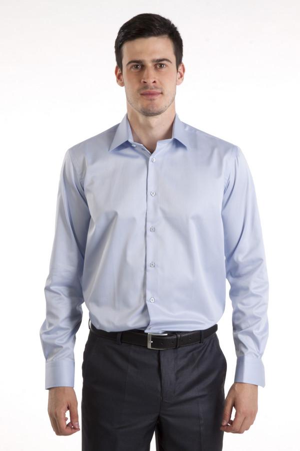 Рубашка Flavio NavaРубашки и сорочки<br>Голубая хлопковая рубашка бренда Flavio Nava прямого кроя. Изделие дополнено: отложным воротником, втачными рукавами, округлым низом, манжетами и планкой на пуговицах.<br><br>Размер RU: 42<br>Пол: Мужской<br>Возраст: Взрослый<br>Материал: хлопок 100%<br>Цвет: Голубой