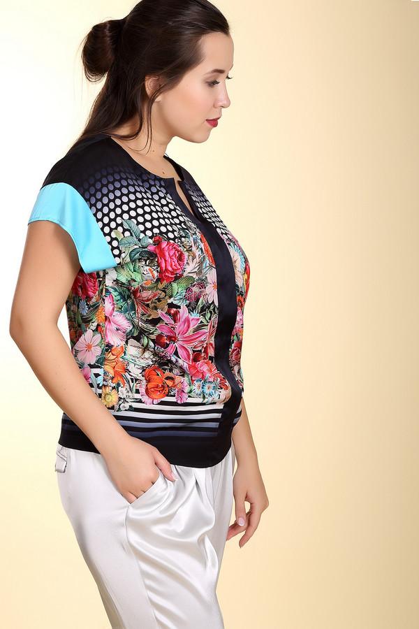 Блузa BaslerБлузы<br>Летняя оригинальная блуза прямого кроя от бренда Basler. Изделие дополнено: круглым вырезом с планкой без застежки и короткими рукавами-крылышко. Кроме того, что она сделана из очень приятного на ощупь материала, она еще и очень яркая. Уникальный покрой блузы и необычный цветочный принт сделают ваш образ очень неординарным. Такая блуза хорошо смотрится классической черной  юбкой ,  брюками  и  жакетами .<br><br>Размер RU: 46<br>Пол: Женский<br>Возраст: Взрослый<br>Материал: полиэстер 100%<br>Цвет: Разноцветный