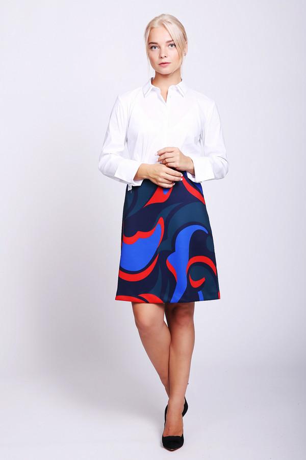 Юбка Just ValeriЮбки<br>Юбка разноцветного цвета фирмы Just Valeri. Модель выполнена А - силуэтом. Изделие дополнено поясом на эластичной ленте, застежка задняя молния, средним швом. Длинна юбки до колен. Гармонировать можно с различными блузами.
