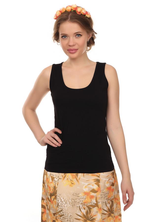 Топ Betty BarclayТопы<br>Однотонный топ от бренда Betty Barclay прилегающего кроя выполнен из хлопка черного цвета. Изделие дополнено u-образным вырезом.<br><br>Размер RU: 46<br>Пол: Женский<br>Возраст: Взрослый<br>Материал: хлопок 95%, эластан 5%<br>Цвет: Чёрный