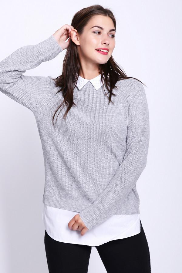 Купить Пуловер Pezzo, Китай, Серый, полиамид 20%, полиэстер 30%, шерсть 5%, вискоза 40%, ангора 5%, Состав_отделка хлопок 100%