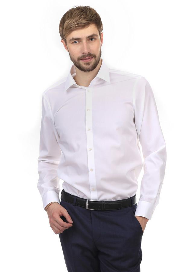 Рубашка с длинным рукавом VentiДлинный рукав<br>Рубашка с длинным рукавом от бренда Venti белого цвета, изготовлена из натурального дышащего 100% хлопка. Изделие дополнено: отложным воротником-стойкой, планкой на пуговицах и длинными рукавами. Манжеты застегиваются на несколько пуговиц. Однотонная рубашка будет прекрасно смотреться с  пиджаком  и  брюками .   slim fit/non-iron<br><br>Размер RU: 45<br>Пол: Мужской<br>Возраст: Взрослый<br>Материал: хлопок 100%<br>Цвет: Белый