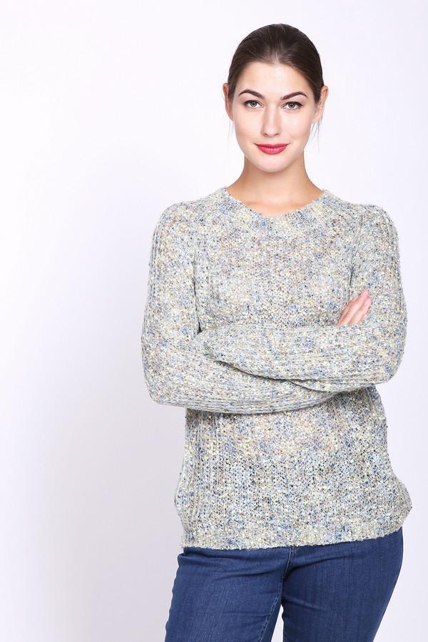 Пуловер PezzoПуловеры<br>Пуловер женский вязаный разноцветного цвета фирмы Pezzo. Модель выполнена прямым фасоном. Изделие дополнено округлым воротом, длинными рукавами реглан. Длинна пуловера до бедер. Гармонировать может с различными брюками.