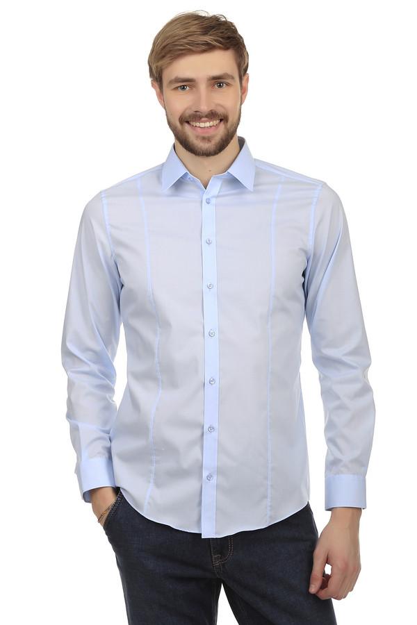 Рубашка с длинным рукавом VentiДлинный рукав<br>Рубашка прилегающего кроя от бренда Venti светло-голубого цвета, изготовлена из смеси хлопка и эластана. Изделие дополнено: отложным воротником-стойкой, планкой на пуговицах и длинными рукавами. Манжеты застегиваются на несколько пуговиц. Необычность кроя заключается в том, что на передней и задней части рубашки присутствуют декоративные швы. Идеально подойдет, как для торжественных мероприятий, так и для официально-делового стиля.   body stretch<br><br>Размер RU: 44<br>Пол: Мужской<br>Возраст: Взрослый<br>Материал: эластан 4%, хлопок 96%<br>Цвет: Голубой
