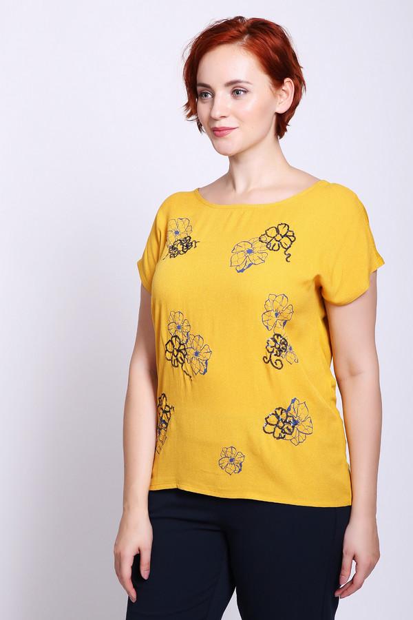 женская футболка thomas rabe, желтая