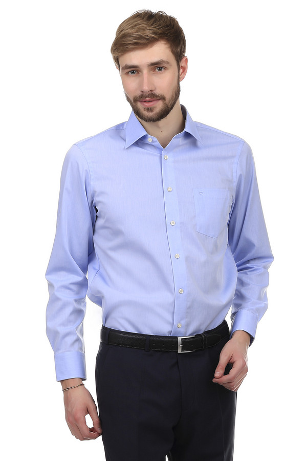 Рубашка с длинным рукавом Casa ModaДлинный рукав<br>Простая, классическая рубашка Casa Moda голубокого цвета. Изделие дополнено: отложным воротником, планкой с пуговицами, одним нагрудным карманом и длинными рукавами с манжетами на пуговицах. Рубашка выполнена из натурального хлопкового материала приятного на ощупь.<br><br>Размер RU: 39<br>Пол: Мужской<br>Возраст: Взрослый<br>Материал: хлопок 100%<br>Цвет: Голубой
