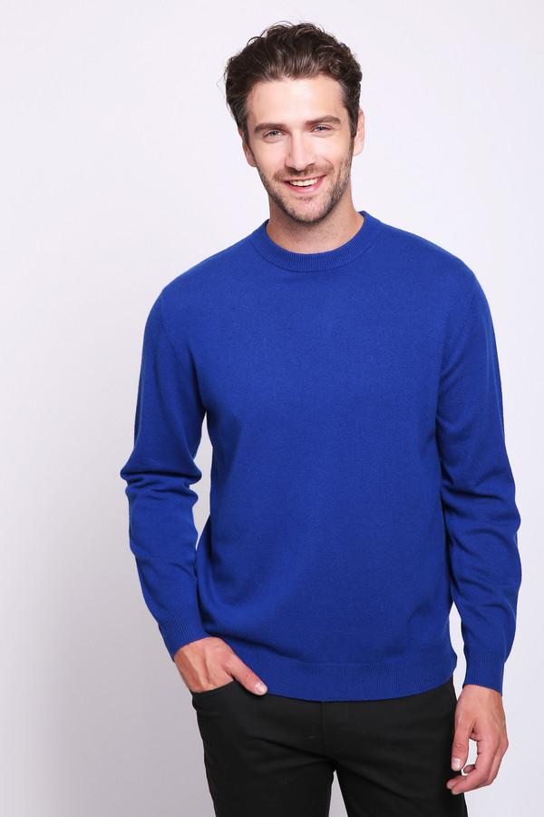 Джемпер Just ValeriДжемперы и Пуловеры<br>Джемпер мужской голубого цвета фирмы Just Valeri. Модель выполнена прямым покроем. Изделие дополнена круглым воротом, втачными, длинными рукавами. Джемпер изготовлен из трикотажного полотна.