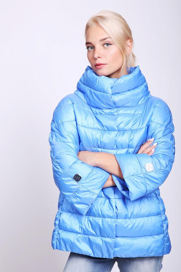 женская куртка pezzo, голубая