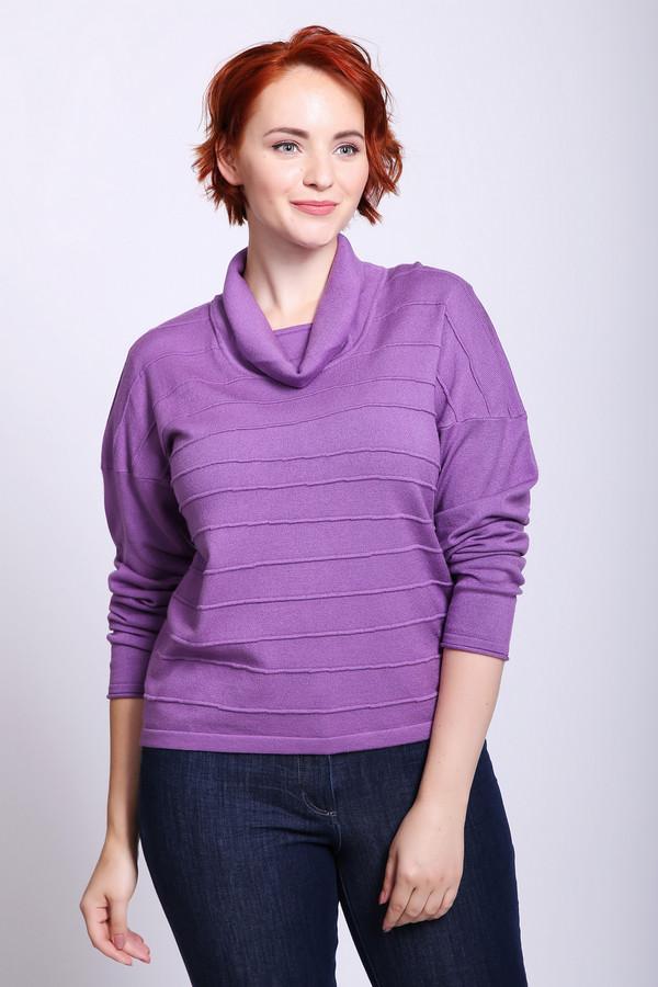 Пуловер Eugen KleinПуловеры<br>Пуловер женский сиреневого цвета фирмы Eugen Klein. Модель выполнена прямым фасоном. Изделие дополнено округлым воротом хомут, приспущенными рукавами. Ткань состоит из 40% полиакрила, 14% полиамида, 46% модал. Сочетать можно с различными брюками.