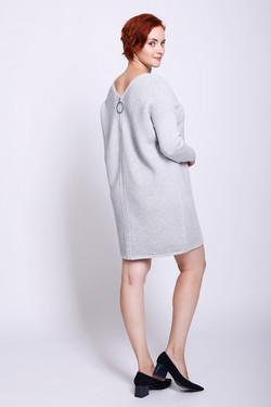 Платье Oui, цвет Серый, размер 44RU