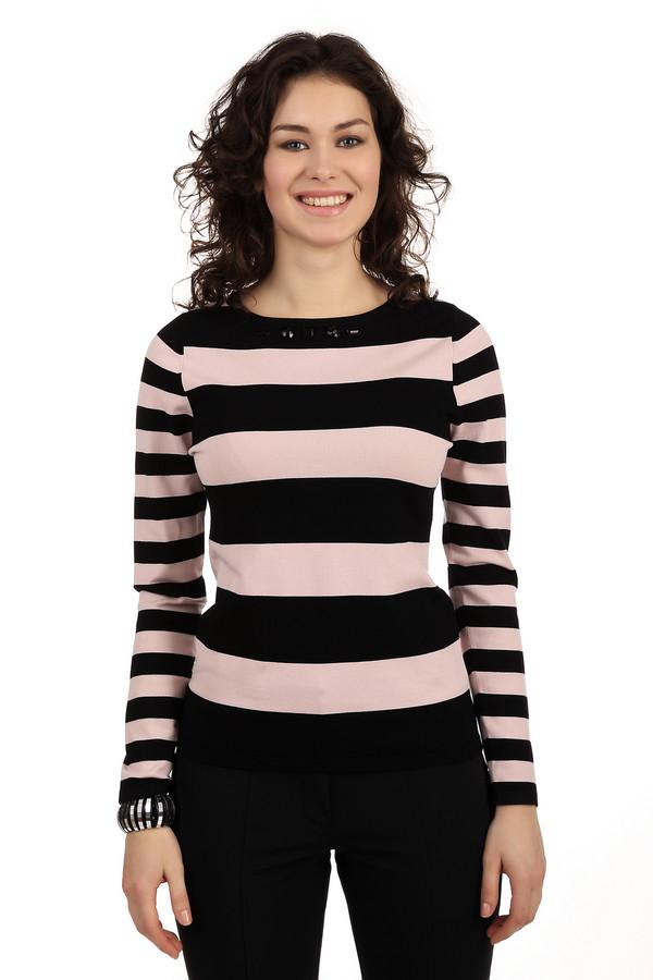 Пуловер Gerry WeberПуловеры<br>Классический полосатый пуловер приятной расцветки. Чередуются черные и бежевые широкие полосы. Приталенный силуэт, на округлой горловине красивое украшение в виде черных камней. Такой стильный пуловер подойдет как для работы, так и для прогулки с друзьями. Он очень мягкий, удобный и приятный к телу. Базовая вещь в гардеробе любой девушки.<br><br>Размер RU: 48<br>Пол: Женский<br>Возраст: Взрослый<br>Материал: полиамид 20%, вискоза 80%<br>Цвет: Разноцветный