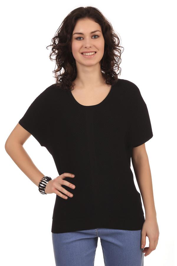 Пуловер Gerry WeberПуловеры<br>Стильная и удобная легкая футболка из вискозы на каждый день. За счет классического черного цвета она будет отлично сочетаться с любыми украшениями. Отлично подойдет как к джинсам, так и к юбкам. Короткий рукав выполнен в стиле «летучая мышь». За счет присутствия в составе полиэстера футболка отлично тянется, а вискоза делает ее приятной к телу. Футболка слегка прозрачная за счет того, что ткань рубчатая.<br><br>Размер RU: 46<br>Пол: Женский<br>Возраст: Взрослый<br>Материал: полиэстер 28%, вискоза 72%<br>Цвет: Чёрный