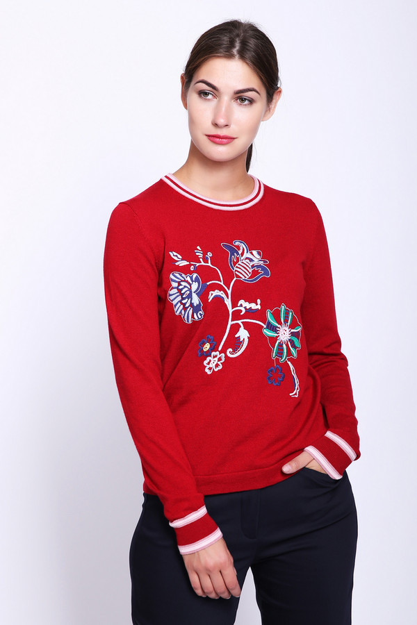женский пуловер pezzo, красный