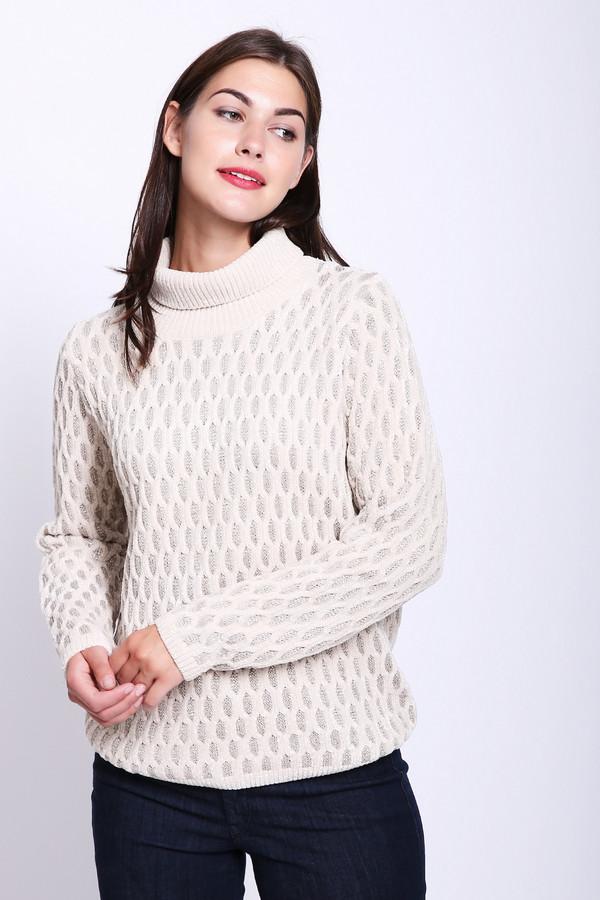 Пуловер PezzoПуловеры<br>Пуловер женский белого цвета фирмы Pezzo. Модель выполнена прямым покроем. Изделие дополнено округлым воротом стойка, длинными рукавами. Такой пуловер будет разнообразить ваш гардероб. Гармонировать может с различными брюками.