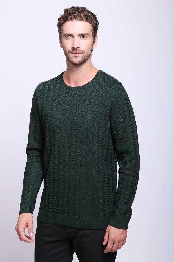 Джемпер PezzoДжемперы и Пуловеры<br>Джемпер зеленого цвета фирмы Pezzo. Модель выполнена прямым покроем. Изделие дополнено округлым воротом, длинными, втачными рукавами. Ткань изготовлена из трикотажа с ажурной вязкой. Такой джемпер может гармонировать с различными брюками.