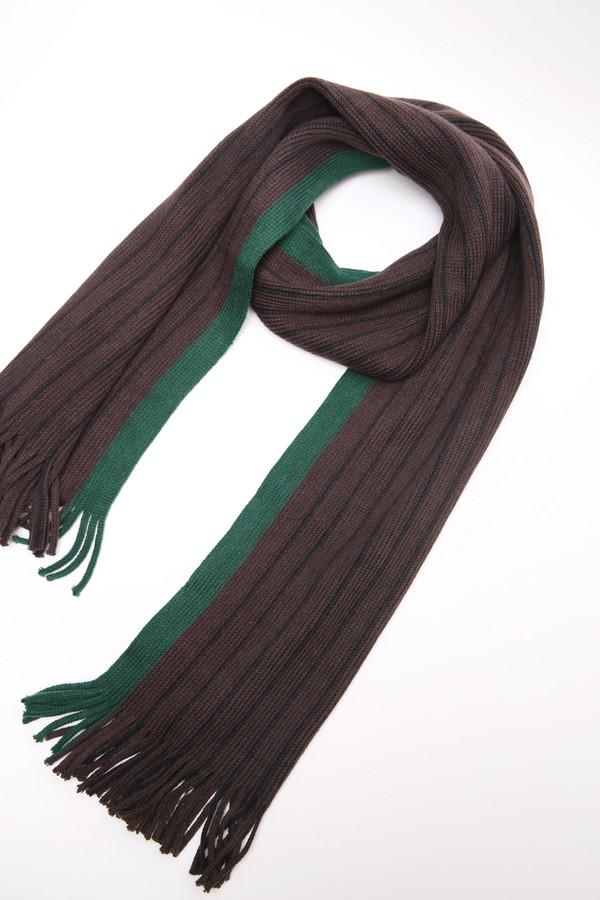 мужской шарф pezzo, коричневый
