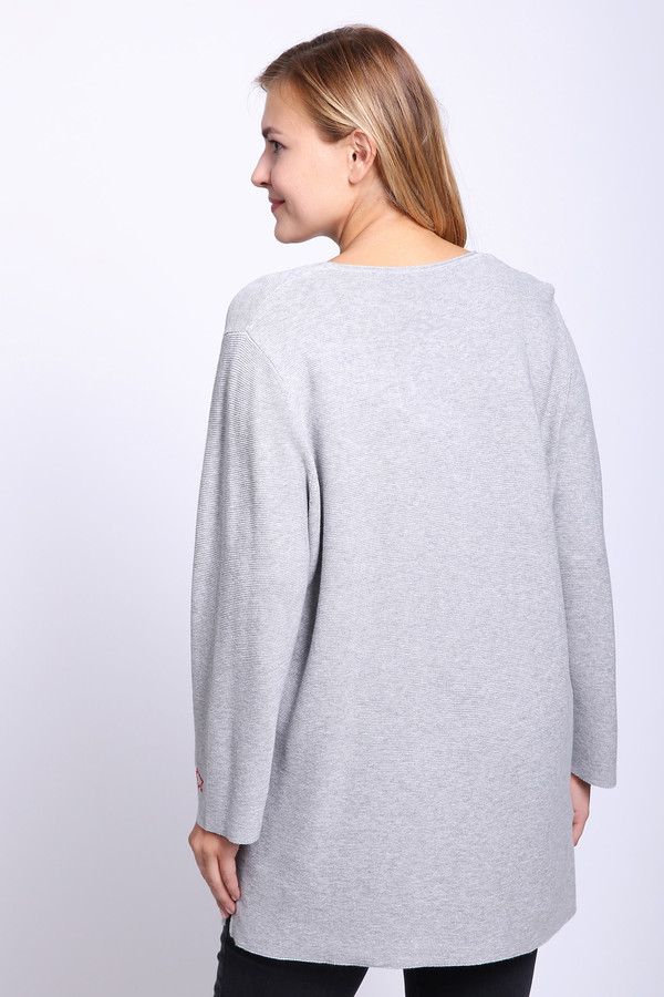 Фото 4 - Женский пуловер Via Appia серого цвета