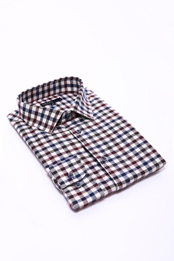 Купить Рубашка с длинным рукавом Pezzo, Китай, Разноцветный, хлопок 100%, Состав_отделка хлопок 100%