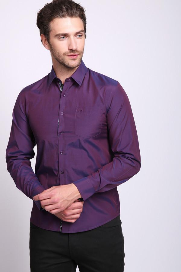 мужская рубашка pezzo, фиолетовая