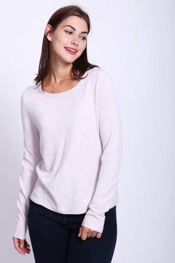 женский пуловер comma, розовый