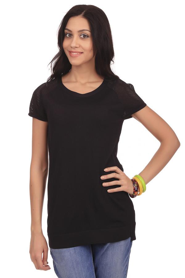 Пуловер PezzoПуловеры<br>Модный женский пуловер Pezzo. Это пуловер черного цвета, который дополнен круглым вырезом, коротким рукавом и перфорацией на плечах. Материал, из которого изготовлен данный пуловер, на 63% состоит из вискозы и на 37% нейлона.<br><br>Размер RU: 48<br>Пол: Женский<br>Возраст: Взрослый<br>Материал: вискоза 63%, нейлон 37%<br>Цвет: Чёрный