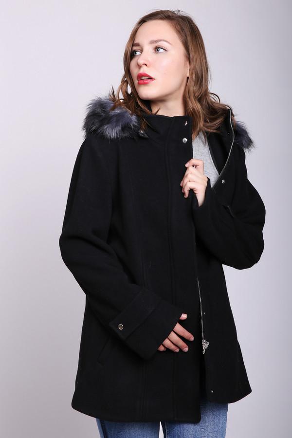 женское пальто just valeri, черное