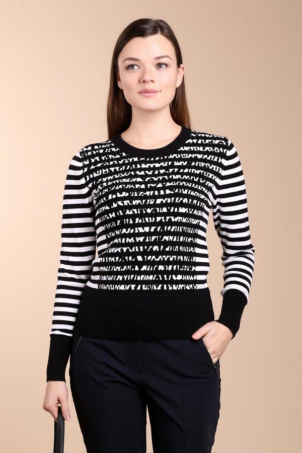 Пуловер PezzoПуловеры<br>Невероятно стильный пуловер для женщин от бренда Pezzo. Это пуловер в черно-белую полоску, со звериным принтом черного цвета. Изделие изготовлено из 100% хлопка, и дополнено круглым вырезом, длинным рукавом на широкой резинке и низом на резинке.<br><br>Размер RU: 52<br>Пол: Женский<br>Возраст: Взрослый<br>Материал: хлопок 100%<br>Цвет: Разноцветный