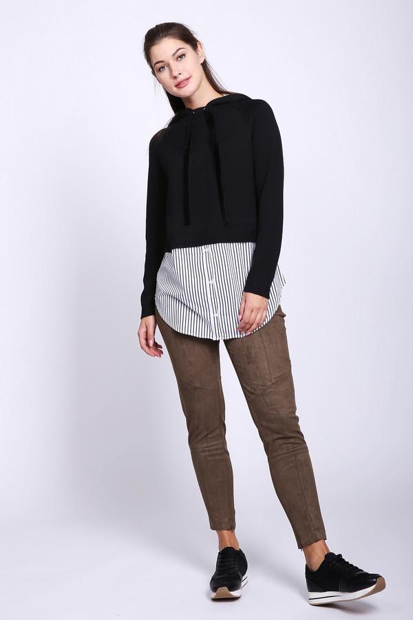 женские брюки pezzo, коричневые