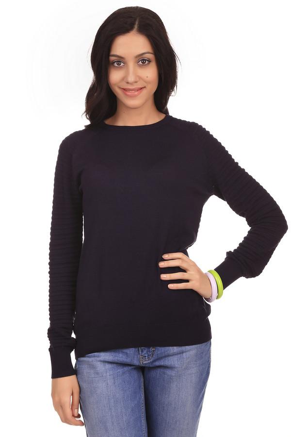 Пуловер PezzoПуловеры<br>Пуловер для женщин от бренда Pezzo. Это пуловер темно-синего цвета, классического кроя, с круглым воротником и длинным рукавом, дополненный объемной вязкой и пуговицами в задней его части. Данный пуловер изготовлен из смеси вискозы и полиэстера.<br><br>Размер RU: 46<br>Пол: Женский<br>Возраст: Взрослый<br>Материал: вискоза 70%, полиэстер 30%<br>Цвет: Синий