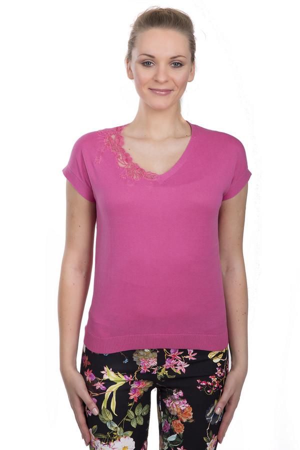 Пуловер PezzoПуловеры<br>Женский пуловер из 100% натурального хлопка. Это пуловер розового цвета от бренда Pezzo. Изделие дополнено: коротким рукавом и круглым V-образным вырезом и цветочным кружевом. Благодаря материалу и цвету, он с легкостью освежит ваш образ.<br><br>Размер RU: 50<br>Пол: Женский<br>Возраст: Взрослый<br>Материал: хлопок 100%<br>Цвет: Розовый