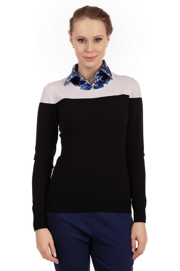 Пуловер PezzoПуловеры<br>Классический женский пуловер от бренда Pezzo. Это пуловер простого покроя, тонкой вязки. Изделие дополнено: круглым вырезом и длинным рукавом. Он сделан из материала, в состав которого входят вискоза, хлопок и нейлон. Данное изделие представлено в черном цвете, с бежевым верхом.<br><br>Размер RU: 50<br>Пол: Женский<br>Возраст: Взрослый<br>Материал: хлопок 30%, нейлон 25%, вискоза 45%<br>Цвет: Разноцветный