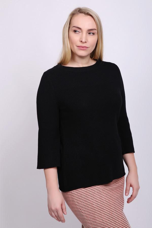 Пуловер BiancaПуловеры<br>Пуловер женский черного цвета фирмы Bianca. Модель выполнена прямым фасоном. Изделие дополнено округлым воротом, втачнымирукавами с разрезами 3/4 длинны. Состав ткани состоит из 55% полиакрил, 45% хлопка. Гармонировать можно с различными брюками.