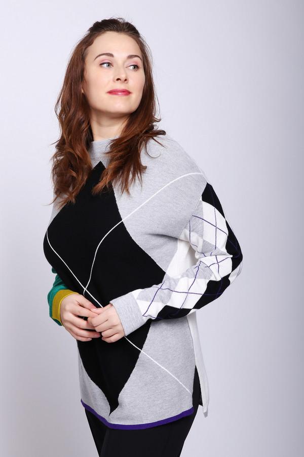 женский пуловер oui, разноцветный