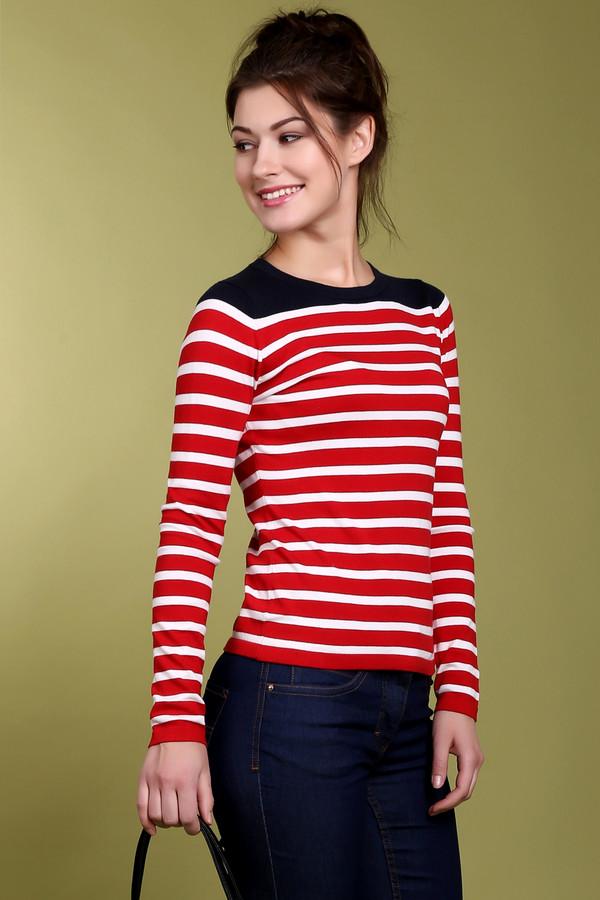 Пуловер PezzoПуловеры<br>Женский пуловер от бренда Pezzo. Это пуловер, классического покроя, из тонкой ткани, которая включает в свой состав хлопок, нейлон и вискозу. Изделие дополнено: круглым вырезом и длинным рукавом. Данная модель представлена в красном цвете, в белую полоску, а плечевая часть изделия черного цвета.<br><br>Размер RU: 52<br>Пол: Женский<br>Возраст: Взрослый<br>Материал: хлопок 30%, нейлон 25%, вискоза 45%<br>Цвет: Разноцветный