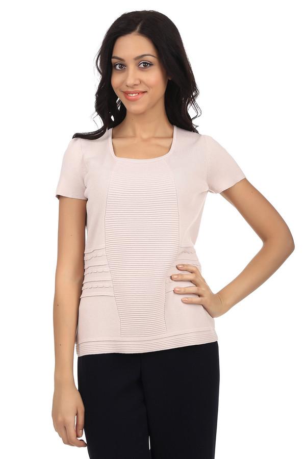 Пуловер PezzoПуловеры<br>Стильный женский пуловер от бренда Pezzo. Данный пуловер представлен в бежевом цвете. Он дополнен квадратным вырезом, рукавом длиной до середины плеча и объемными узорами. Этот пуловер пошит из материала, который на 65% состоит из вискозы и на 35% из нейлона.<br><br>Размер RU: 52<br>Пол: Женский<br>Возраст: Взрослый<br>Материал: вискоза 65%, нейлон 35%<br>Цвет: Бежевый